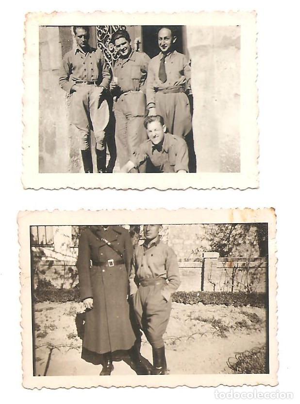 Militaria: LOTE 7 FOTOGRAFÍAS MILITARES EN LAS HUELGAS (BURGOS) FECHADAS ABRIL DE 1938, ORIGINAL ÉPOCA - Foto 4 - 168469336