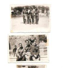 Militaria: LOTE 3 FOTOGRAFÍAS MILITARES EN BURGOS FECHADAS ABRIL Y JUNIO DE 1938, ORIGINAL ÉPOCA. Lote 168470408