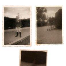 Militaria: DOS FOTOGRAFÍAS Y UN NEGATIVO MILITAR EN BARCELONA TRAS GUERRA CIVIL FECHADA 1941 - ORIGINAL ÉPOCA. Lote 168471868