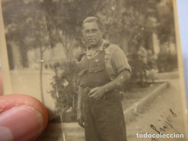 Militaria: * Antigua fotografia de miliciano de cuerpo ejercito tren, original, republicano. Guerra civil. ZX - Foto 2 - 168693928