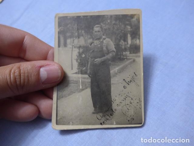 * ANTIGUA FOTOGRAFIA DE MILICIANO DE CUERPO EJERCITO TREN, ORIGINAL, REPUBLICANO. GUERRA CIVIL. ZX (Militar - Fotografía Militar - Guerra Civil Española)