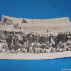 Militaria: FOTO TARJETA POSTAL, FOTO OFICIALES EN UN PUESTO DE MANDO, EN ALGUNA FRONTERA, ÉPOCA ALFONSO XIII. Lote 168781961