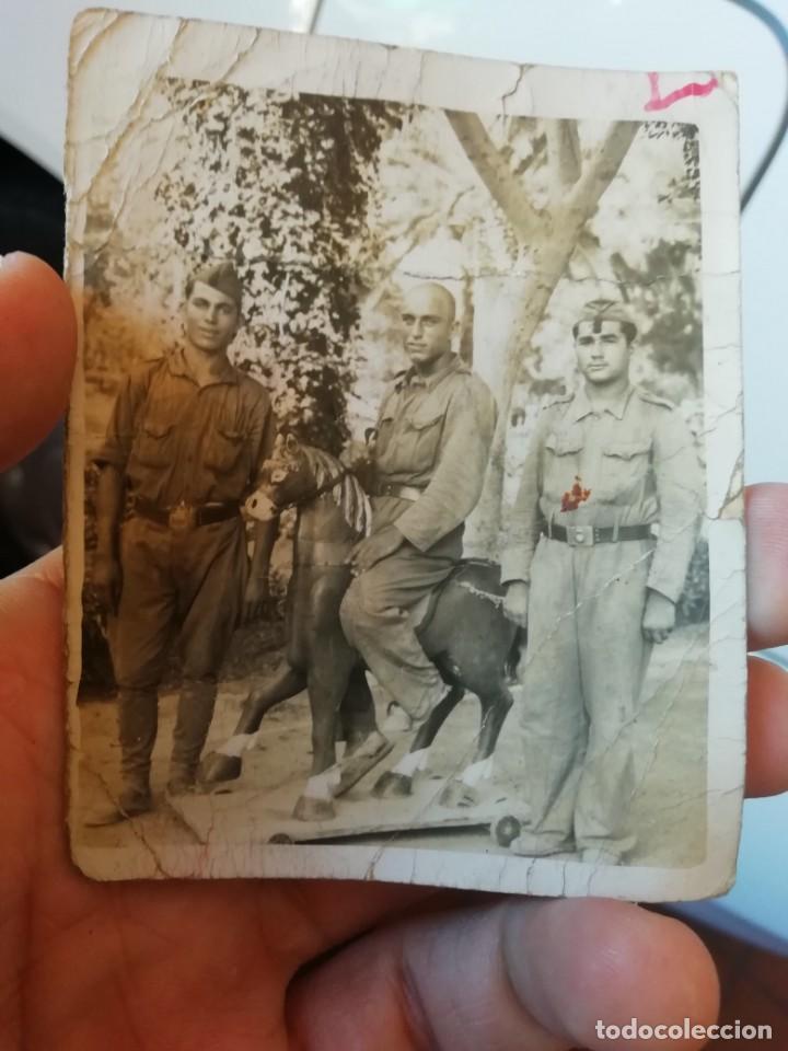 ANTIGUA FOTO FOTOGRAFIA MILITAR SOLDADOS GUERRA CIVIL (Militar - Fotografía Militar - Guerra Civil Española)