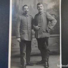 Militaria: DOS SOLDADOS IMPERIALES ALEMANES POSANDO EN ESTUDIO. II REICH. AÑOS 1914-18. Lote 169208088
