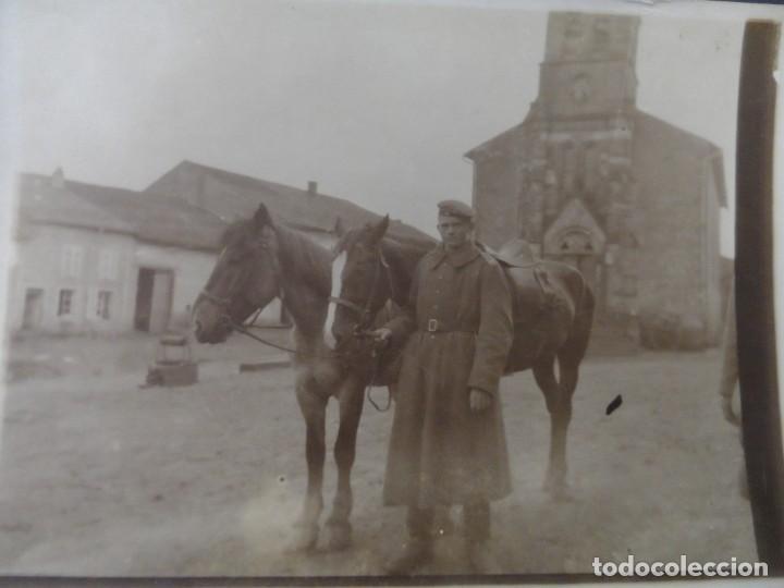 SOLDADO IMPERIAL ALEMAN CON CABALLOS EN BELGICA. II REICH. AÑOS 1914-18 (Militar - Fotografía Militar - I Guerra Mundial)