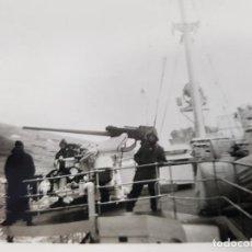 Militaria: FOTO ORIGINAL CUBIERTA BUQUE ALEMAN II GUERRA MUNDIAL. Lote 169314252