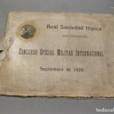 Militaria: ÁLBUM FOTOGRÁFICO DEL CONCURSO OFICIAL MILITAR INTERNACIONAL. SAN SEBASTIÁN. 1909. FOTÓGRAFO RESINES. Lote 169446496