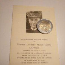 Militaria: RECORDATORIO FALLECIMIENTO GENERAL LAFONT 1961 FRANCIA BAYONA EUSKADI BOY SCOUT SCOUTS. Lote 169530572