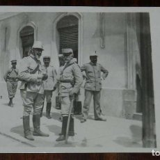 Militaria: POSTAL FOTOGRAFICA DE CAMPAÑA MELILLA, J.C. MADRID, SERIE 4ª N. 10, EL GENERAL OROZCO Y SU AYUDANTE . Lote 169561492