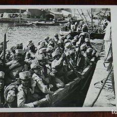Militaria: POSTAL FOTOGRAFICA DE CAMPAÑA MELILLA, J.C. MADRID, SERIE 4ª N. 9, DESEMBARCO DEL REGIMENTO DE WAD R. Lote 169621588