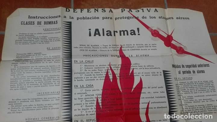 CARTEL DEFENSA PASIVA GUERRA CIVIL. (Militar - Fotografía Militar - Guerra Civil Española)