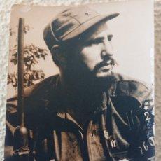 Militaria: FOTO FIDEL CASTRO, CUBA, CON AUTÓGRAFO, ORIGINAL, CHÉ GUEVARA, REVOLUCIÓN. Lote 169660249