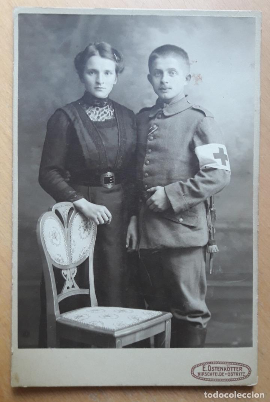 MILITAR ALEMÁN CRUZ ROJA .GRAN GUERRA - (Militar - Fotografía Militar - I Guerra Mundial)