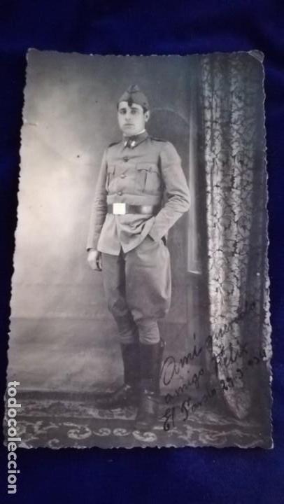 ANTIGUA FOTOGRAFIA MILITAR ESPAÑOL, ARMA INGENIEROS, AÑO 1934,FOTO MARTINEZ, MADRID (Militar - Fotografía Militar - Otros)