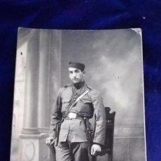 Militaria: ANTIGUA FOTOGRAFIA MILITAR ESPAÑOL EN AFRICA, REGIMIENTO Nº 9, AÑO 1925.FOTO RUBIO, CEUTA. Lote 169981716