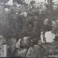 Militaria: SOLDADOS IMPERIALES ALEMANES POSANDO EN EL MONTE ENTRE ROCAS. II REICH. AÑOS 1914-18. Lote 170095928