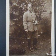 Militaria: SOLDADO IMPERIAL ALEMAN CON PURO Y PASADOR CRUZ DE HIERRO. II REICH. AÑOS 1914-18. Lote 170100436