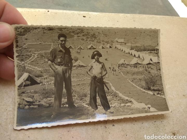 Militaria: Pareja de Fotografías Frente Juventudes - Campamento Jaime I - Serra - años 40 - - Foto 2 - 170186856
