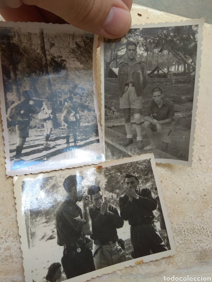 LOTE FOTOGRAFÍAS FRENTE JUVENTUDES - PORTO CRISTO - MALLORCA 1947 - (Militar - Fotografía Militar - Otros)