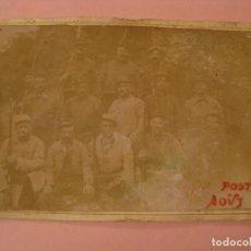 Militaria: FOTOGRAFIA DE MILITARES FRANCESES. 1915. 15X10 CM. . Lote 170385032