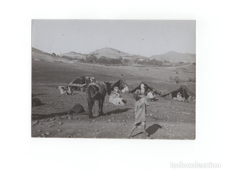 CAMPAÑA DEL RIF.- ZOCO DEL CAMPAMENTO, ENERO DE 1912 - MEDIDAS 17,5X12 CM (Militar - Fotografía Militar - Otros)
