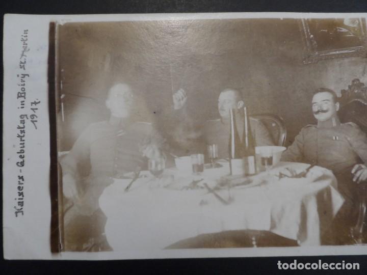 OFICIALES IMPERIALES ALEMANES CONDECORADOS. CUMPLEAÑOS KAISER EN BOIRY ST. MARTIN.II REICH. AÑO 1917 (Militar - Fotografía Militar - I Guerra Mundial)