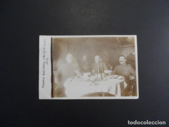 Militaria: OFICIALES IMPERIALES ALEMANES CONDECORADOS. CUMPLEAÑOS KAISER EN BOIRY ST. MARTIN.II REICH. AÑO 1917 - Foto 2 - 171443524