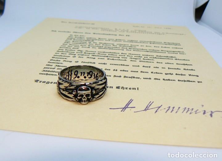 Militaria: ANILLO DE HONOR SS «Totenkopf»( inox 316L) 7 - Foto 2 - 189355347