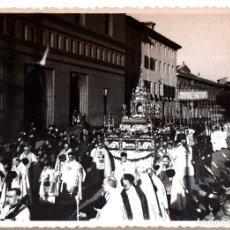 Militaria: CORPUS EN ZARAGOZA AÑO 1951 . FOTO WAMBA ACADEMIA GENERAL MILITAR ZARAGOZA - 12 X 8,5 CM. Lote 171687435