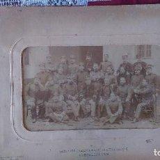 Militaria: AB-489.- FOTO DE MILITARES- BATALLON CAZADORES DE ALBA DE TORMES Nº-8.- BARCELONA 1908. VER FOTOS . Lote 172065698