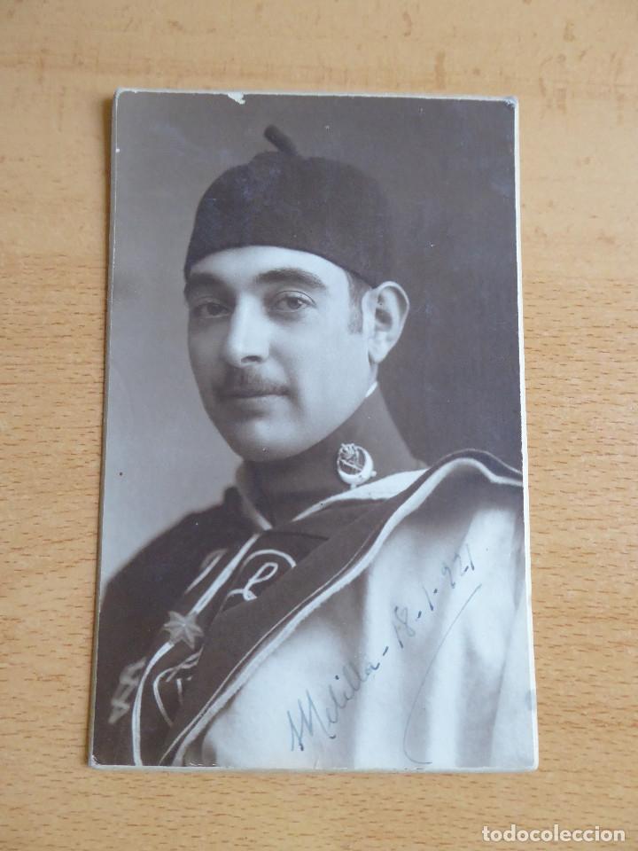 Militaria: Fotografía alférez Regulares nº 3. Alfonso XIII Melilla 1921 - Foto 2 - 172247820