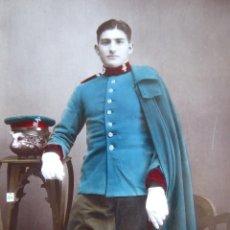Militaria: FOTOGRAFÍA COLOREADA SOLDADO CABALLERÍA DEL EJÉRCITO ESPAÑOL.. Lote 172422739