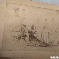 Militaria: ANTIGUA FOTOGRAFÍA MILITAR SOLDADOS CON CAÑÓN. Lote 172719675