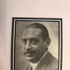 Militaria: LA II REPÚBLICA, D. MIGUEL MAURA GAMAZO MINISTRO DE LA GOBERNACIÓN (A.1931) RECORTE FOTOGRÁFICO. Lote 172768295