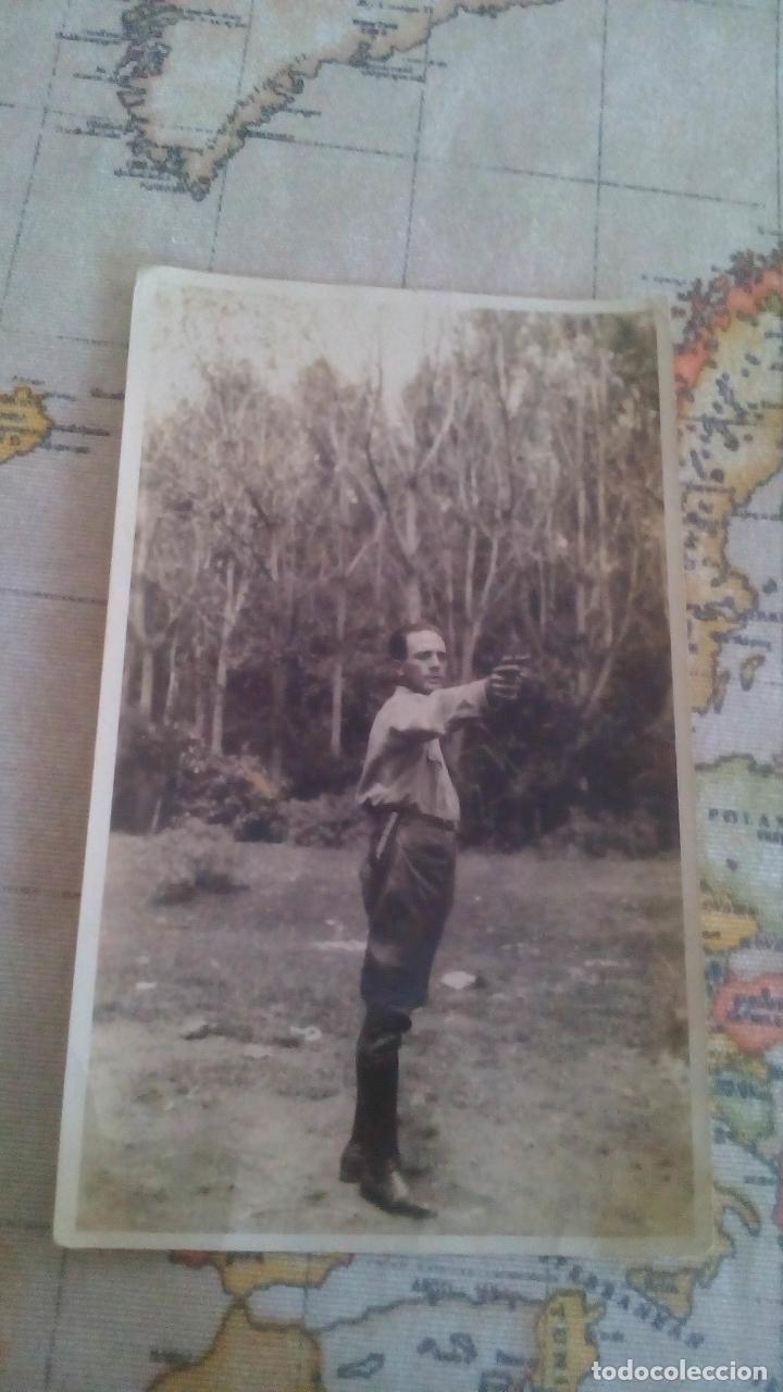 ANTIGUA FOTO MILITAR CON PISTOLA - AÑOS 20 (Militar - Fotografía Militar - Otros)