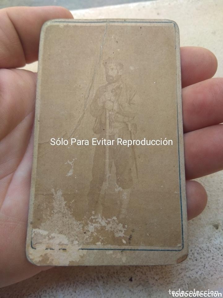 FOTOGRAFÍA DE EZEQUIEL LLORENTE JERGÓN 2° JEFE DEL CABECILLA CARLISTA ROSA SAMANIEGO (Militar - Fotografía Militar - Otros)