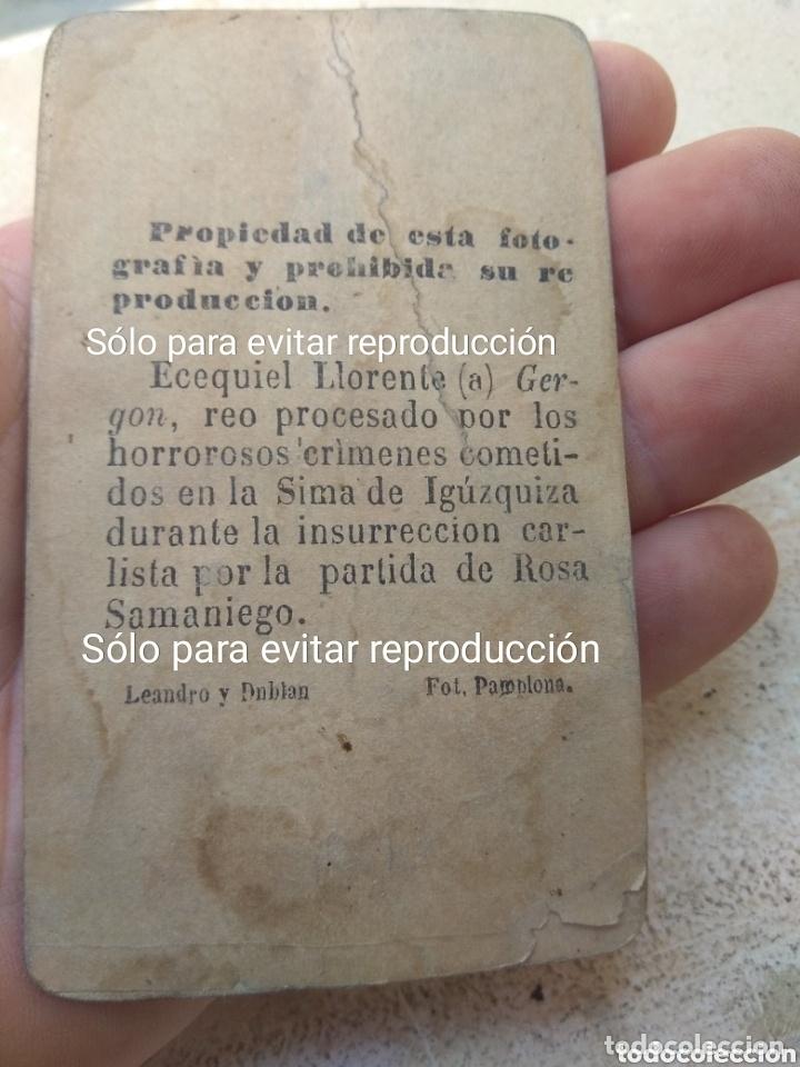 Militaria: Fotografía de Ezequiel Llorente Jergón 2° Jefe del Cabecilla Carlista Rosa Samaniego - Foto 2 - 172783785