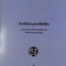 Militaria: REPRINT UNIFORMES HJ, DJ, BDM, SA, NSKK, NSDAP HERSTELLUNGSVORSCHRIFTEN RZM. Lote 172883873