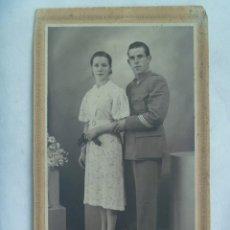 Militaria: POST GUERRA CIVIL : FOTO BODA MILITAR , SARGENTO DE ARTILLERIA NACIONAL. MADRID , 1939. Lote 172973383