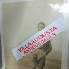 Militaria: J MARIA LAMBEA LEGION OFICIAL COMANDANTE PILOTO FOTO ANTIGUA GUERRA CIVIL ESPAÑOLA. Lote 118834363