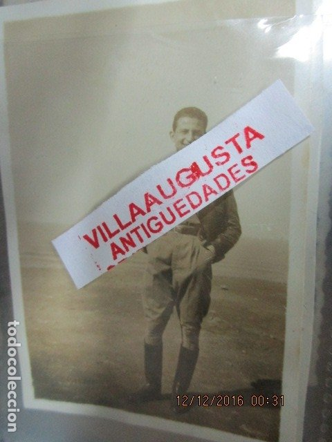 Militaria: J MARIA LAMBEA LEGION OFICIAL COMANDANTE PILOTO FOTO ANTIGUA GUERRA CIVIL ESPAÑOLA - Foto 3 - 118834363