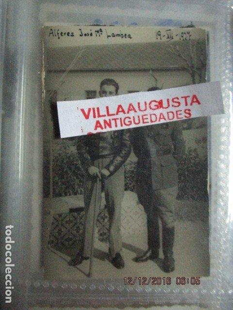 Militaria: JOSE MARIA LAMBEA PILOTO CONDECORADO CON MEDALLAS EN PLENA GUERRA FRENTE ARAGON CIVIL 1937 LEGION - Foto 2 - 172983628