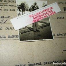 Militaria: TENIENTE INGENIERO PILOTO AVIACION DE GUERRA CIVIL CUMPLIE PENA DOCUMENTO AMPLIACION PAGA PENSION. Lote 173539695
