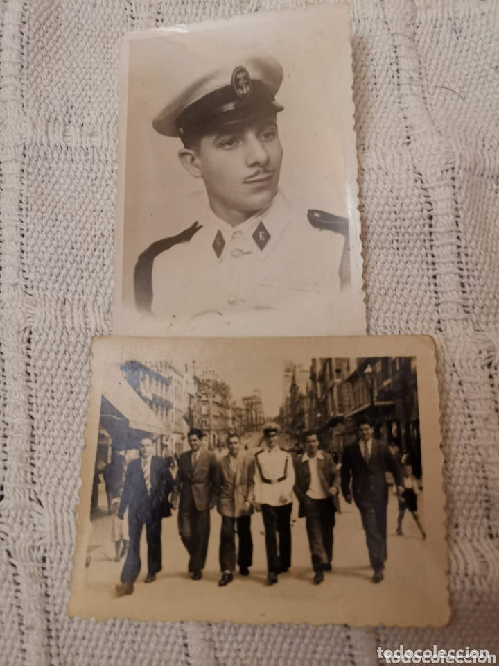 2 FOTOS INFANTERIA DE MARINA/ARMADA/SOLDADO/MILITAR /1950 (Militar - Fotografía Militar - Otros)
