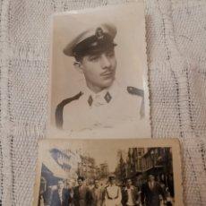Militaria: 2 FOTOS INFANTERIA DE MARINA/ARMADA/SOLDADO/MILITAR /1950. Lote 173572458
