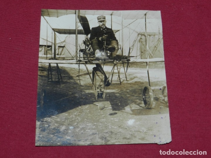 AVIACION MILITAR FOTOGRAFIA ANTIGUA , AVION 1912,AERO CIBLE MICHELIN M.ROL PARIS FOT. M ROL (Militar - Fotografía Militar - I Guerra Mundial)