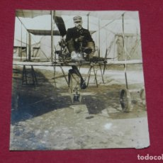 Militaria: AVIACION MILITAR FOTOGRAFIA ANTIGUA , AVION 1912,AERO CIBLE MICHELIN M.ROL PARIS FOT. M ROL. Lote 173643417