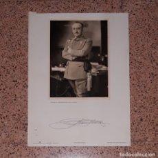 Militaria: FOTOGRAFÍA FRANCO FIRMADA. Lote 173866564