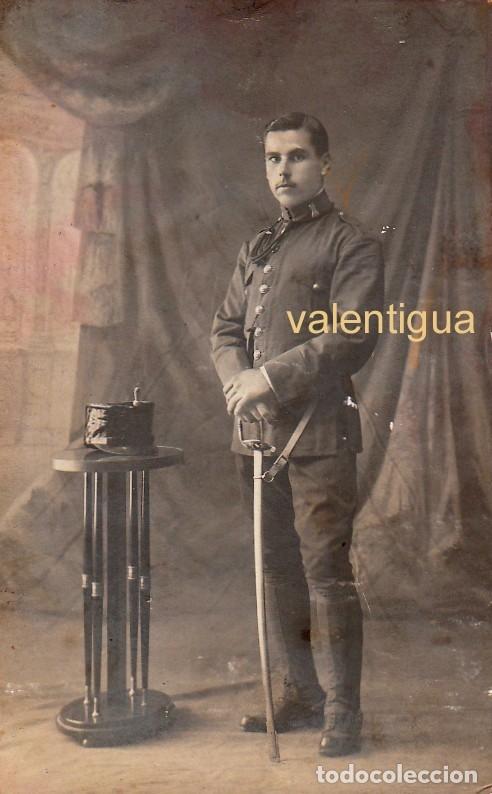 ANTIGUA FOTO TARJETA POSTAL MILITAR SABLE CUERPO INGENIEROS ALFONSO XIII OJEDA, LAS PALMAS 10-20S FF (Militar - Fotografía Militar - Otros)