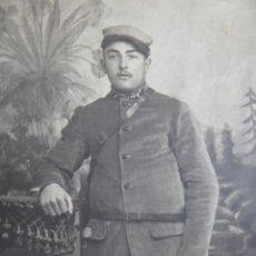 Militaria: FOTOGRAFÍA SOLDADO DEL EJÉRCITO FRANCÉS. 1ºGM. Lote 174036543